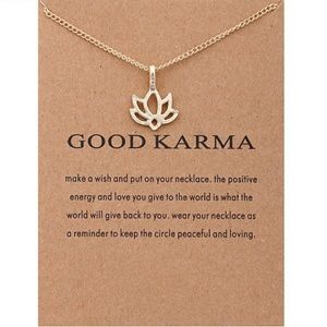 Jewelry - LAST ONE! 'Good Karma' Lotus Flower Necklace